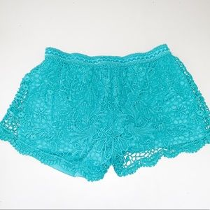 Pants - Blue Lace Shorts